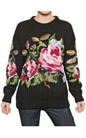 Dolce & Gabbana Intarsia Wool Knit Sweater