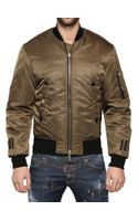 DSquared2 Shiny Nylon Bomber Jacket