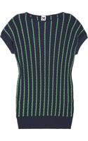 M Missoni Striped Ribbed Knitted Sweater