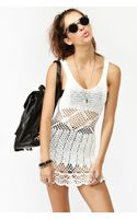 Nasty Gal Boardwalk Crochet Dress White