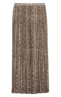 Michael by Michael Kors Pleated Snake Print Georgette Maxi Skirt