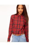 ASOS Collection Asos Shirt with Check Print - Lyst