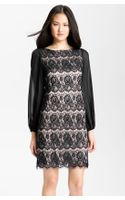 Eliza J Bell Sleeve Lace Overlay Sheath Dress - Lyst