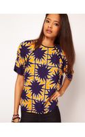 ASOS Collection Asos Woven Tshirt with Starburst Print - Lyst