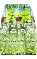 Mary Katrantzou Printed Silk Satin Tulip Skirt