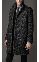 Burberry Wool Blend Bouclé Coat - Lyst