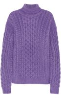 Christopher Kane Cableknit Mohairblend Turtleneck Sweater