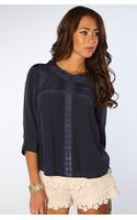 Free People The Geek Rock Top in Navy - Lyst