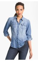 Sandra Ingrish Roll Sleeve Denim Shirt - Lyst
