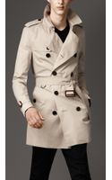 Burberry Midlength Cotton Gabardine Trench Coat