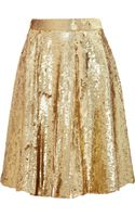 Temperley London Sequined Silk Chiffon Skirt
