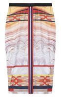 Clover Canyon Printed Stretchjersey Pencil Skirt