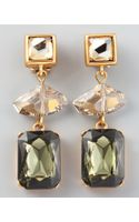 Oscar de la Renta Geometric Crystal Clip Earrings  - Lyst