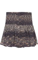 Isabel Marant Printed Silk Georgette Mini Skirt