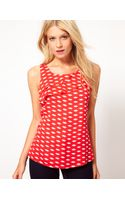 Oasis Lip Print Shell Top - Lyst