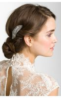Tasha Feather Crystal Hair Clip - Lyst