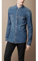 Burberry Brit Vintage Wash Denim Shirt - Lyst