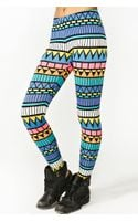 Nasty Gal Neon Aztec Leggings