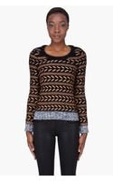 Rag & Bone Bronze Wool Lisbeth Sweater - Lyst