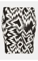 Topshop Crazy Ikat Mini Skirt - Lyst