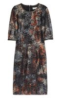Mulberry Leather Trimmed Tie Dye Lace Dress