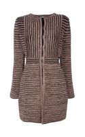 M Missoni Striped Midlength Coat
