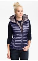 Bernardo Hooded Iridescent Down Vest