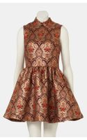 Topshop Jacquard Skater Dress