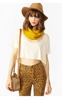 Nasty Gal Flared Crop Tee Ivory - Lyst