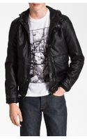 Topman Quilted Hooded Bomber Jacket