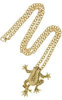 Kenneth Jay Lane 18karat Goldplated Cubic Zirconia Frog Necklace