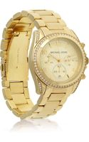 Michael Kors Stainless Steel and Crystal Chronograph Watch