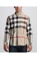 Burberry Brit Check Buttondown Shirt Classic - Lyst