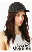 Nasty Gal Leather Cap - Lyst