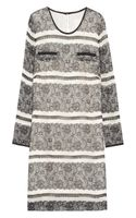 J.Crew Lace-Print Silk Mini Dress