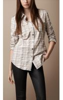 Burberry Brit Crinkle Check Shirt