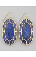 Kendra Scott Framed Cabochon Earrings Lapis Lazuli