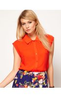 ASOS Collection Blouse with Folded Collar