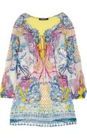Roberto Cavalli Printed Silk Georgette Top