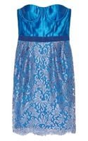 Matthew Williamson Silkblend and Lace Bustier Dress - Lyst