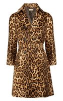 Michael Kors Animal Print Cotton Coat