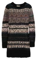 Vanessa Bruno Athé Fair Isle Mohairblend Sweater Dress - Lyst
