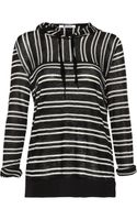 T By Alexander Wang Striped Hooded Fineknit Top - Lyst