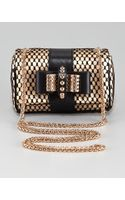 Christian Louboutin Sweet Charity Satinlace Clutch Bag