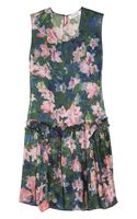 Borne By Elise Berger Floral Print Silk Dress - Lyst