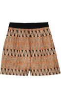 Giambattista Valli Patterned Woven Shorts - Lyst