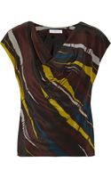Nicole Farhi Printed Silk Top