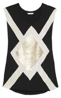 Sass & Bide The Big Go Sequinembellished Cottonjersey Tank