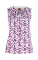 Tory Burch Floral Print Vest Top