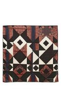 Givenchy Patchwork Print Light Silk Satin Scarf